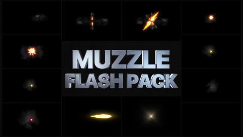 Muzzle Flash Pack Apple Motion Template