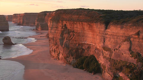 The Twelve Apostles stand off the coast of Victoria in... Stock Video Footage
