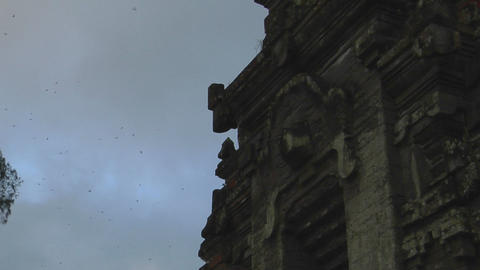 The front of the temple, which has very beautiful... Stock Video Footage
