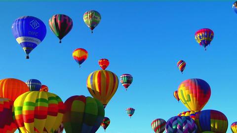 Colorful balloons rise above the Albuquerque Balloon... Stock Video Footage