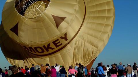 A Smokey The Bear balloon at the Albuquerque Balloon Festival Footage