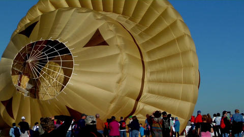 A Smokey The Bear balloon at the Albuquerque Balloon... Stock Video Footage