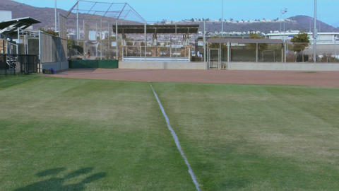 young baseball players place their arms around one... Stock Video Footage