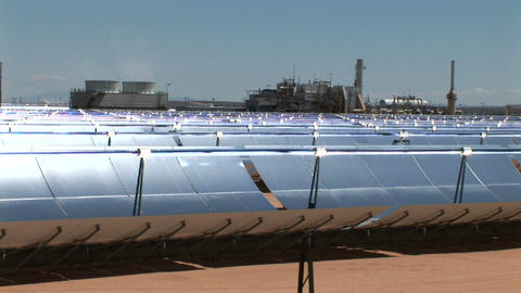 Solar panels reflect in the sun Stock Video Footage