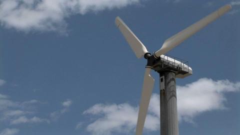 A wind turbine generates electricity Stock Video Footage