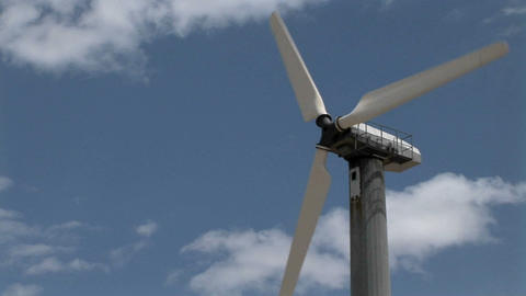 A Wind Turbine Generates Electricity stock footage
