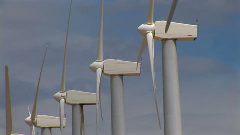 Wind turbines generate electricity Footage