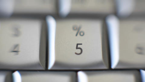 The number 5 is on a computer keyboard Stock Video Footage