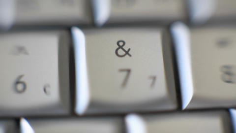 The number 7 is on a computer keyboard Stock Video Footage