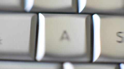 The letter A is on a computer keyboard Stock Video Footage