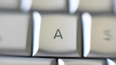 The letter A is on a computer keyboard Footage