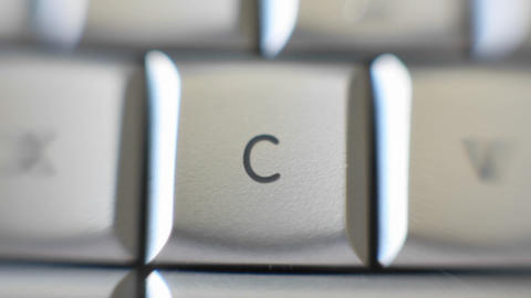 The letter C is on a computer keyboard Stock Video Footage