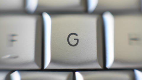 The letter G is on a computer keyboard Stock Video Footage
