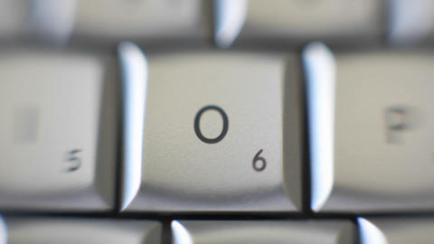 The letter O is on a computer keyboard Footage