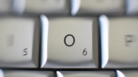 The letter O is on a computer keyboard Stock Video Footage