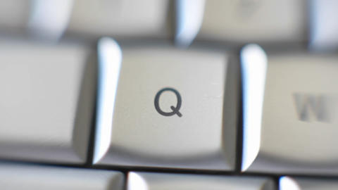 The letter Q is on a computer keyboard Footage