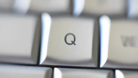 The letter Q is on a computer keyboard Stock Video Footage