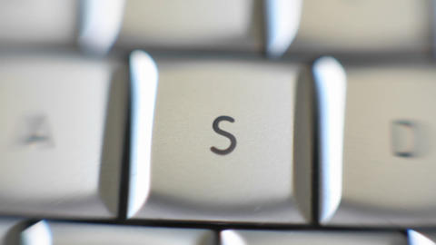 The letter S is on a computer keyboard Stock Video Footage