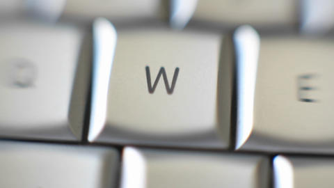 The letter W is on a computer keyboard Footage