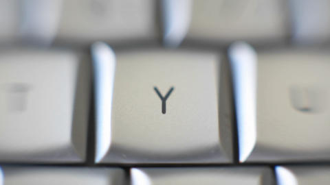 The letter Y is on a computer keyboard Stock Video Footage