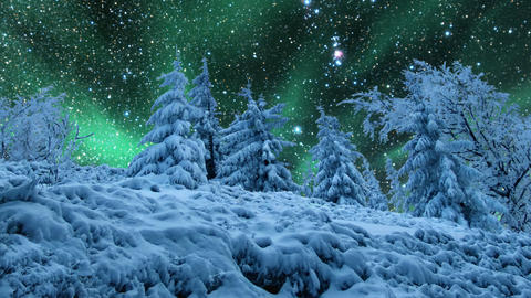 Starry sky and northern lights Footage