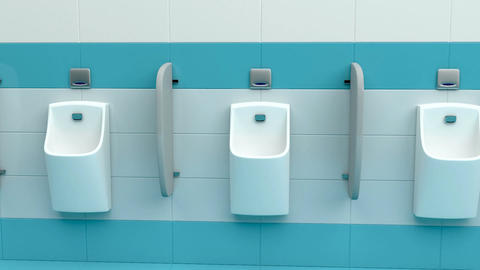 Row of urinals Animation