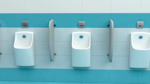 Row of urinals Animation