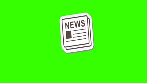 Announcing News, Animated Newspaper: Loop + Matte Stock Video Footage