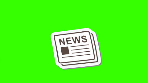Announcing News, Animated Newspaper: Loop + Matte Animation