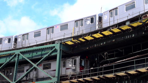 New York - Subway slow motion 120 fps clip 07 Full HD Footage