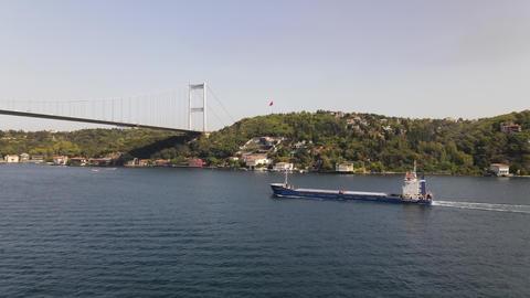 Sea Transportation Ship Drone View Live Action
