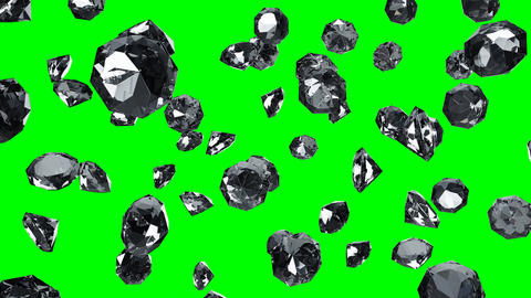 Diamonds on green chroma key Animation