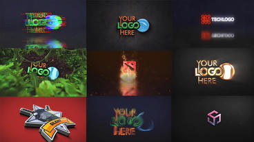 10 Logo Reveal Pack After Effects Template