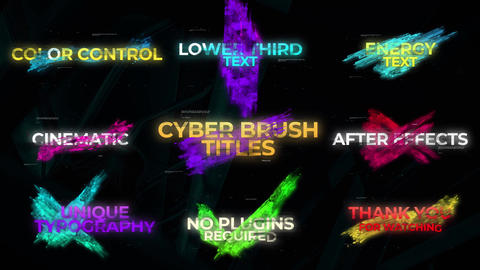 Cyber Brush Titles After Effects Template