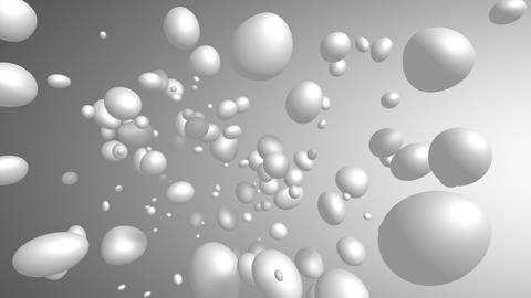 Abstract rotating array of spheres, background 3D Animation
