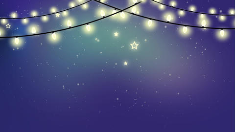 Christmas Looped Garland Animated Background Animation