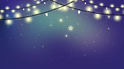 Christmas Looped Garland Animated Background Stock Video Footage