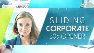Sliding Corporate 30s Opener Apple Motion and Final Cut Pro X Template Plantilla de Apple Motion