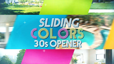 Sliding Colors 30s Opener - After Effects Template After Effects Template