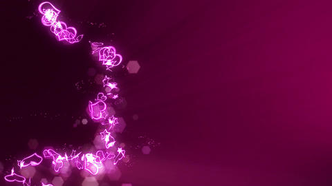 Heart and Star Spin Animation,CG,Wedding Video Animation