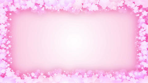Spin of cherry blossoms,CG Animation,Particle,Frame CG動画