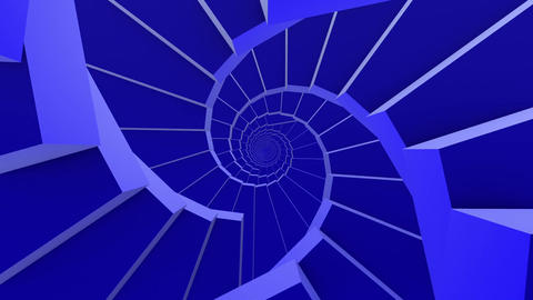 Rotating stairs in blue color Animation