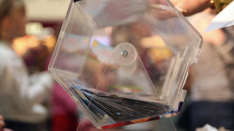 Lottery tickets swirling in the Lotto Live Action