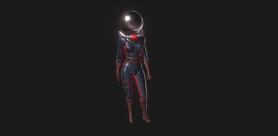 Dark astronaut 3D Model