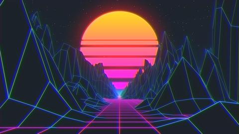 AEプロジェクトデータ 80年代風ループ動画 After Effectsテンプレート