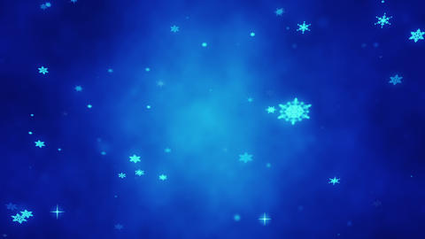Christmas glittering snowflakes. Festive Christmas background. New Year Animation