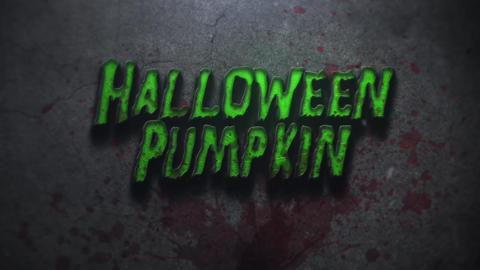Creepy Halloween Pumpkin Logo or Text Intro After Effects Template