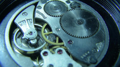 Mechanism of mechanical watch stopping 30fps MJPEG HD Live Action
