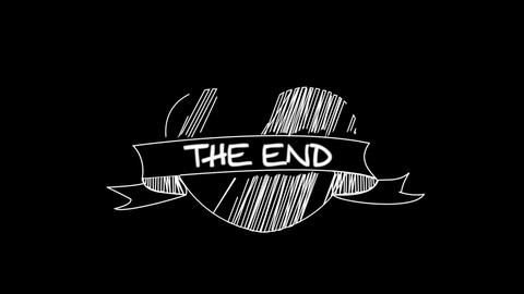 Ribbon Doodle End Credit, Stock Animation
