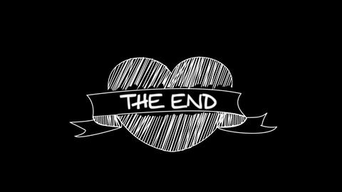 Ribbon Doodle End Credit Stock Video Footage